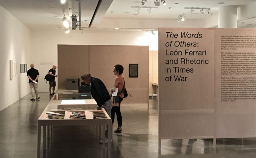"""Exhibition design for """"The Words of Others"""" at REDCAT, Los Angeles"""